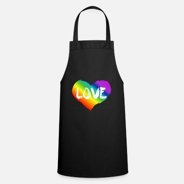 Lgbt rainbow heart - love - Apron