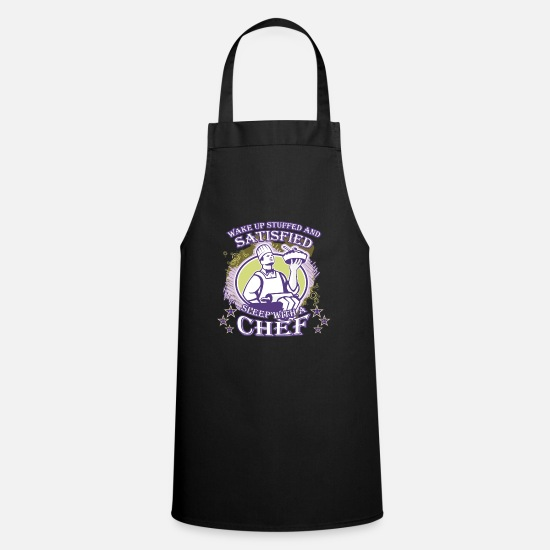 Chef Gift Aprons - Wake up stuffed and satisfied sleep with a Chef - Apron black
