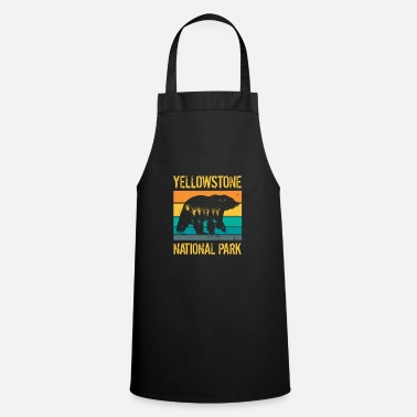 Trip Yellowstone National Park vintage bear - Apron