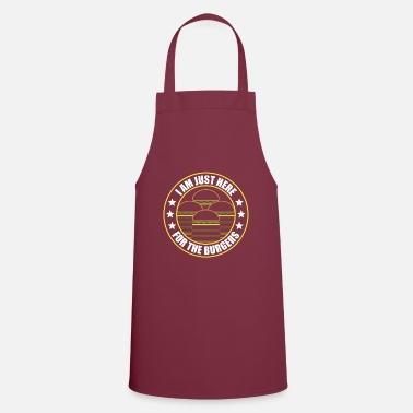 Hungry Only here because of the Burgers Hamburger Fasfood fun - Apron