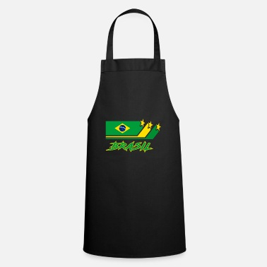 Primatista Brazil Flags Design / Gift National - Grembiule da cucina