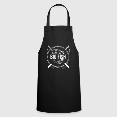 Happiness is a big fish and Witness Fishing Angler - Cooking Apron