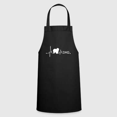 Lovely Heartbeat Pulse Line English Sheepdog Dad Dog Gift - Cooking Apron