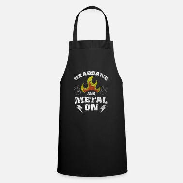 Rock N Roll Headbanger Rocker Death Metal Loud Music Gift - Cooking Apron
