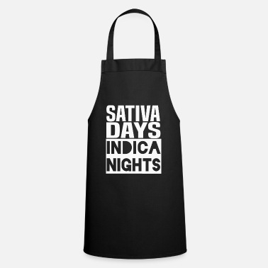 Schwarz Sativa Days Indica Nights Cannabis - Apron