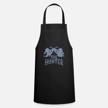 Hunting Hunter shooter weapon rifle hunting wild deer antler - Cooking Apron