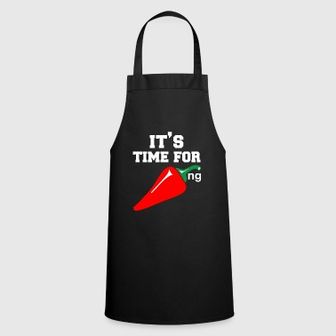 Takeaway Chili chill cook hot food takeaway gift - Cooking Apron