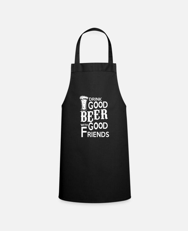 Can Aprons - Drink good beer with good friends - Apron black