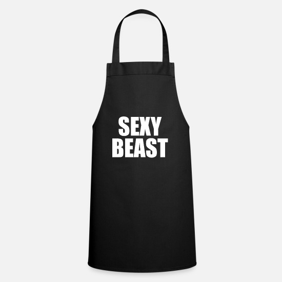 Gift Idea Aprons - Sexy Beast Attractive - Apron black