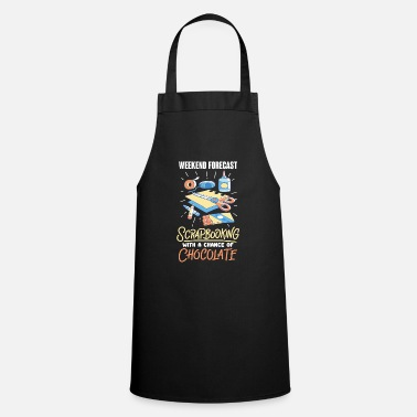 Scrapbooking - weather forecast - with chocolate - Apron