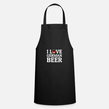 Oktober-fest I Love German Beer Oktober Bierzelt Munich Fest - Cooking Apron