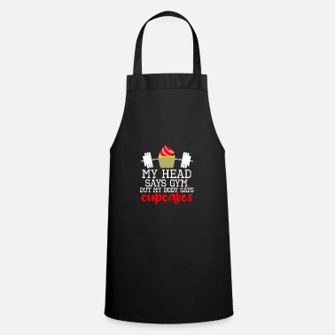 Quotes Body Workout Fitness Cupcakes Gift Idea - Cooking Apron