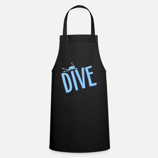 Reef Aprons - Diving, divers, deep sea - Apron black