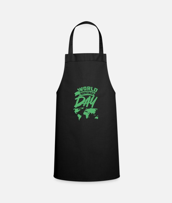 Family Crest Aprons - Day World Heritage World Heritage World Heritage Day Holiday - Apron black