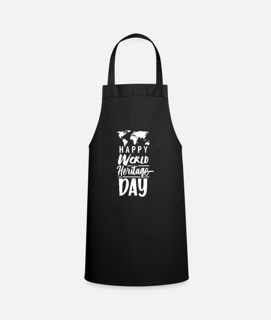 Family Crest Aprons - World Heritage - Apron black