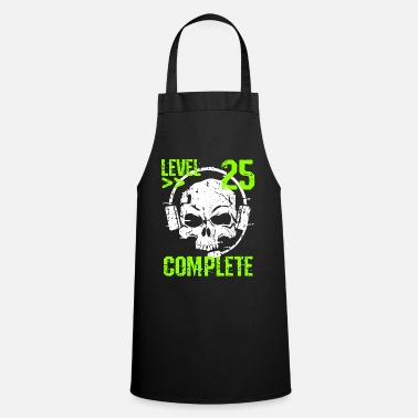 Clan Level 25 Complete 25th Birthday Gamer & Gambler - Apron