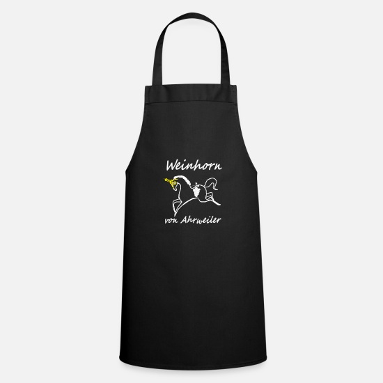 Wine Glass Aprons - Weinhorn from Ahrweiler - wine festival, unicorn, feast - Apron black