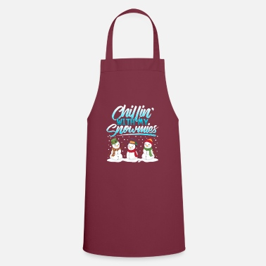 Christmas Snowman chill winter Christmas gift - Apron