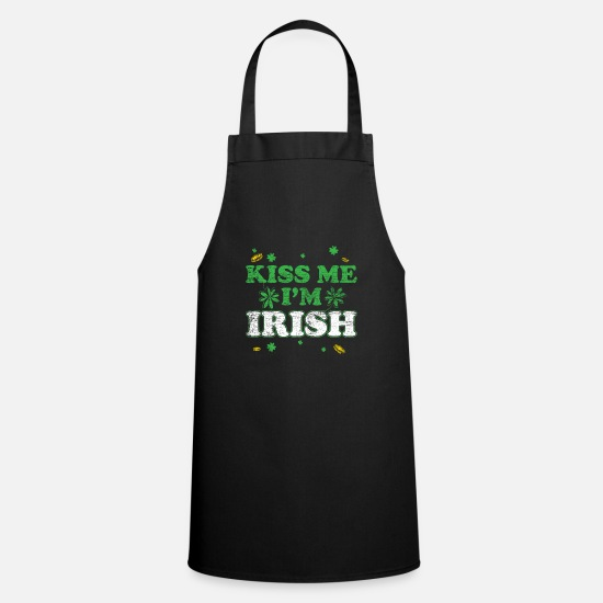 Irish Beer Aprons - Kiss me im irish vintage Geschenk St Patrick's Day - Apron black