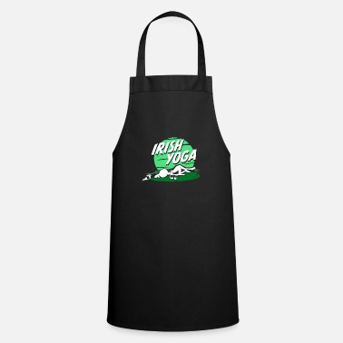 Funny Irish Yoga Funny St. Patrick's Day Shirt - Cooking Apron