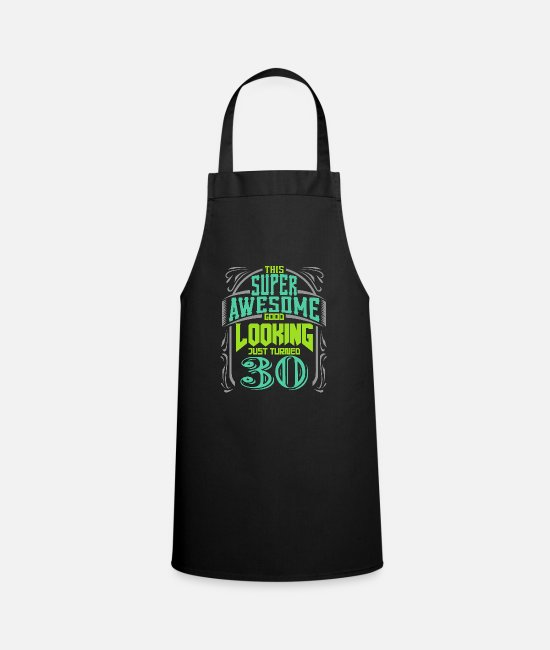 30th Birthday Girl Aprons - 30th birthday - Apron black