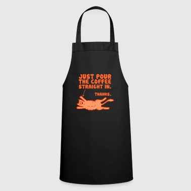 Coffee - Coffee Drinking Cat - Cooking Apron