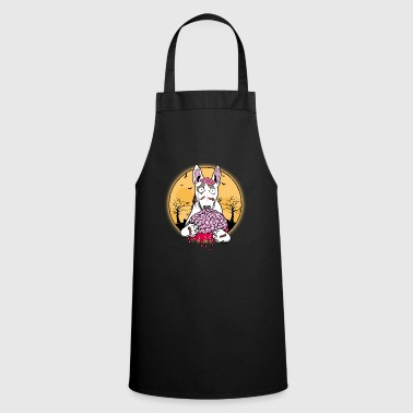 Bull Terrier Bull Terrier Halloween Zombie Dog - Cooking Apron