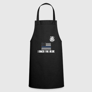 Wyoming Police Appreciation Thin Blue Line I Back The Blue - Cooking Apron