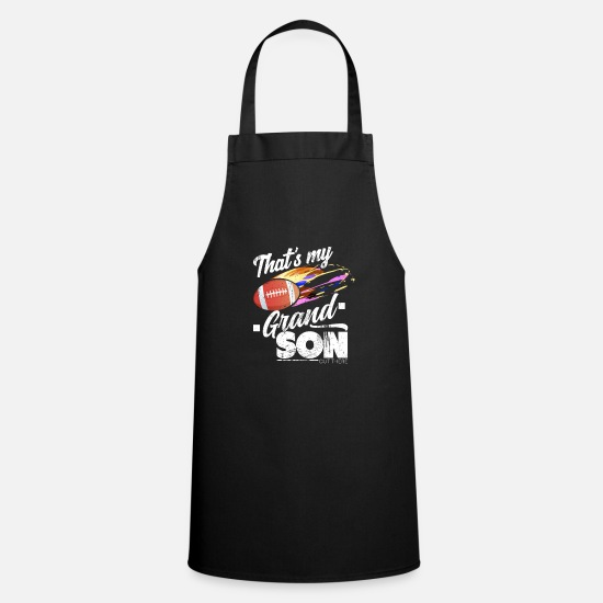 Gift Idea Aprons - American football grandson - Apron black