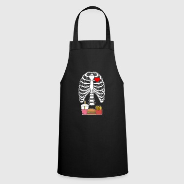 Takeaway French fries hamburgers skeleton ribs gift - Cooking Apron
