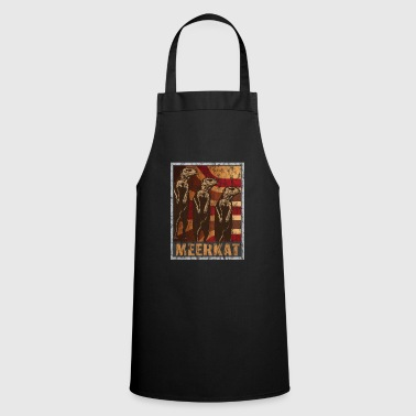 Region Retro meerkat poster distressed look - Cooking Apron