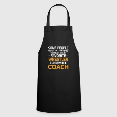 Hockey Lifetime to Meet Fave Wrestler Calls Me Coach T Shirt - Cooking Apron