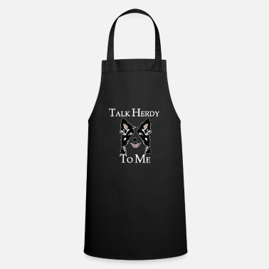 Herding Dog Border collie dirty herd herding dog gift - Apron