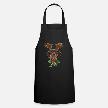 Pointer German Shorthaired Pointer Dog Antlers Christmas - Cooking Apron
