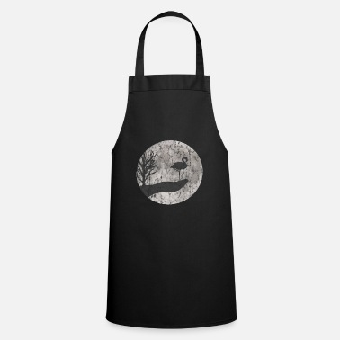 Modern Flamingo drawing used look - Cooking Apron