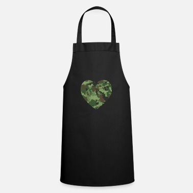 United Love American Soldier Troop Camouflage Heart Gift - Cooking Apron