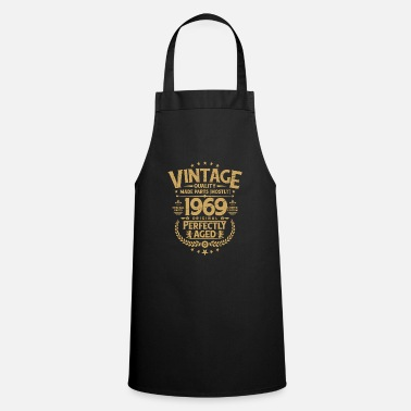 1968 Vintage 50th Birthday Funny Tshirt 1969 Perfectly - Cooking Apron