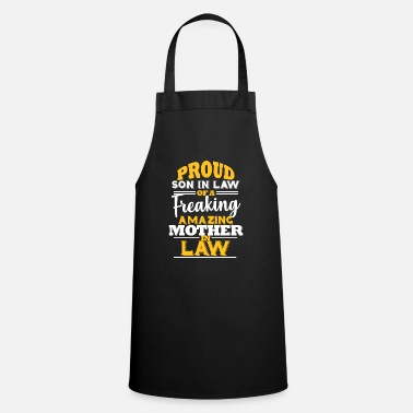 Son Son In Law of Amazing Mother In Law Funny Gift - Cooking Apron