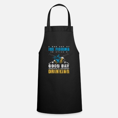 Lake Ice fishing beer - Cooking Apron