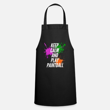 Mark Something Keep Calm And Play Paintball - Cooking Apron