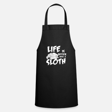 Motion Sloth life animals gift - Cooking Apron