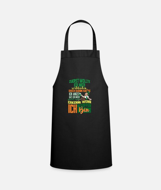 Big Aprons - At first I wanted to dress up, but then - Apron black