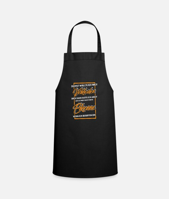 Carnival Aprons - At first I wanted to dress up but then - Apron black