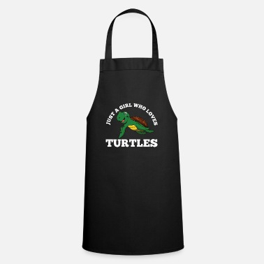 Shield Just A Girl Who Loves Turtles Funny Kids Quote Fun - Apron
