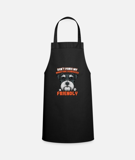 Dog Owner Aprons - Miniature schnauzer - Apron black