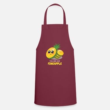 Pun You Are One Fineapple Cute Pineaaple Pun - Apron