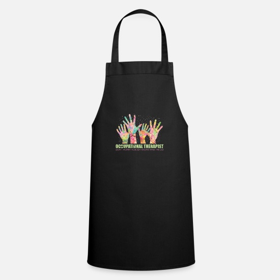 Therapy Aprons - occupational Therapy - Apron black
