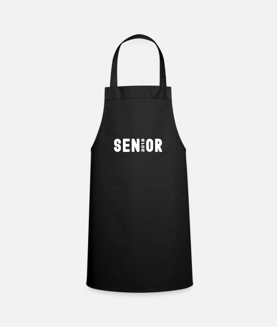 Proud Aprons - Senior 2019, Graduation 2019 - Apron black