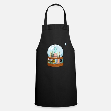 Charade New York Broadway Snow Globe Funny Gift - Apron