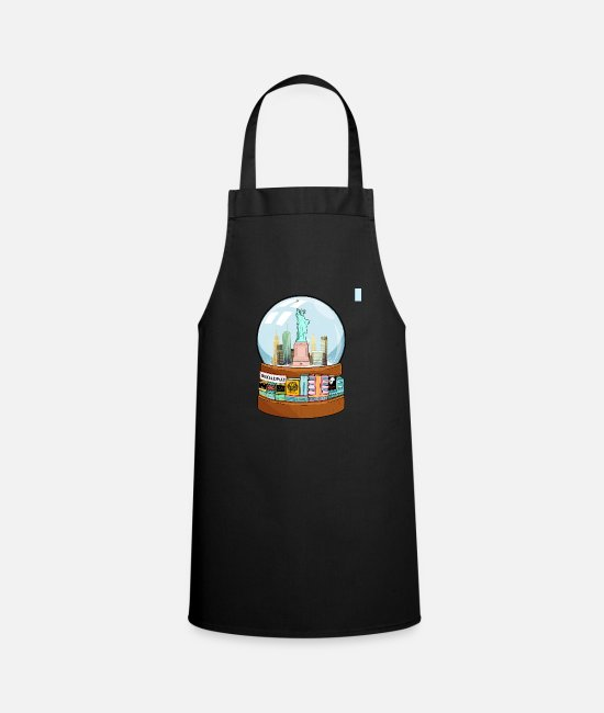 Movie Aprons - New York Broadway Snow Globe Funny Gift - Apron black